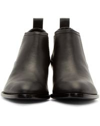Alexander Wang | Black Notched Lucite Heel Kori Ankle Boots | Lyst