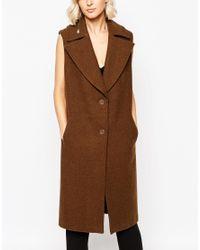 Gestuz - Green Marlowe Sleeveless Coat - Wren - Lyst