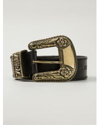 Moschino - Black Buckled Belt - Lyst