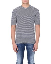DSquared² - Blue Striped T-shirt - For Men for Men - Lyst