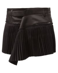 Haider Ackermann - Black Pleated Mini Skirt - Lyst