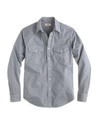 J.Crew - Gray Wallace Barnes Garmentdyed Western Shirt for Men - Lyst