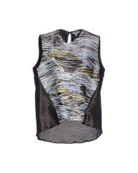 KENZO - Black Vest - Lyst
