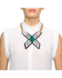 Lulu Frost - Metallic Bette Bib Necklace - Teal - Lyst