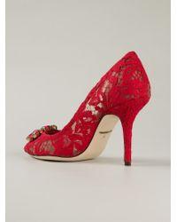 Dolce & Gabbana - Red 'Bellucci K' Pumps - Lyst