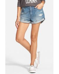 Volcom - Blue Boyfriend Denim Shorts - Lyst