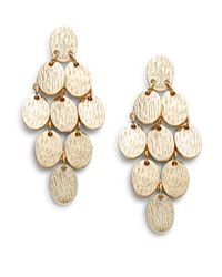 Cara - Metallic Tiered Kite Earrings - Lyst