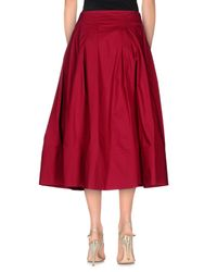 Ottod'Ame - Red 3/4 Length Skirt - Lyst