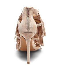 Steve Madden | Pink Fringlyr And Suede Sandals | Lyst