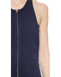 NLST - Blue Knit Overalls - Navy - Lyst