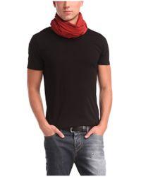 BOSS Orange | Black Regular-fit T-shirt With Raw-cut Detail for Men | Lyst