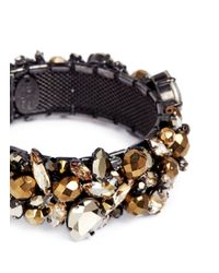 Erickson Beamon - Metallic 'golden Rule' Crystal Cluster Bangle - Lyst
