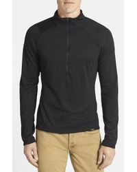 Patagonia | Black 'capilene 3' Base Layer Half Zip T-shirt for Men | Lyst