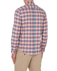 Ben Sherman | Orange Oxford Check Classic Fit Long Sleeve Shirt for Men | Lyst