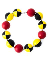 Holly Fulton | Multicolor Enamel Ball Necklace | Lyst