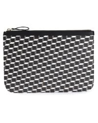 Pierre Hardy - Black Perspective Cube Calf Large Pouch for Men - Lyst