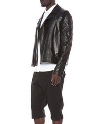 Public School - Black Leather Biker Jacket - Lyst