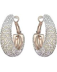 Swarovski Metallic Abstract Hoop Pierced Earrings