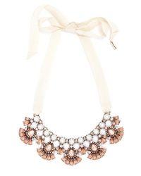 BaubleBar | Pink Ribbon Pearl Petal Collar | Lyst