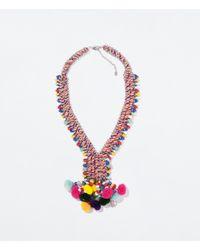 Zara | Multicolor Beaded Necklace | Lyst