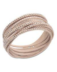 Swarovski | Pink Slake Nude Crystallized Bracelet | Lyst