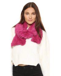 Adrienne Landau - Pink Fur Scarf - Lyst