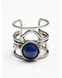 Free People | Blue Womens Caged Cuff Ring | Lyst