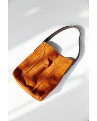 Kimchi Blue - Brown Soft Lines Suede Shoulder Bag - Lyst
