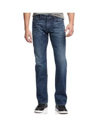 Guess | Blue Desmond Relaxed Straightleg Jeans Evasion Wash for Men | Lyst