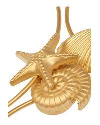 Valentino - Metallic Set Of Three Gold-tone Bangles - Lyst