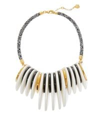Trina Turk - Black Crescent Bib Necklace - Lyst