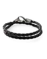 Tod's - Black Braided Bracelet for Men - Lyst