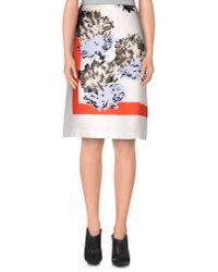 Dior - White Knee Length Skirt - Lyst