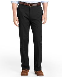 Izod | Black Madison Classic Fit No-iron Flat Front Chino Pants for Men | Lyst
