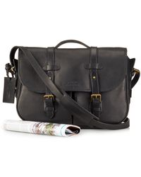 Polo Ralph Lauren | Black Leather Messenger Satchel for Men | Lyst