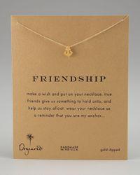 Dogeared | Metallic Friendship Anchor Pendant Necklace | Lyst