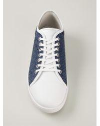 Giorgio Armani | Blue Braided Sneakers for Men | Lyst