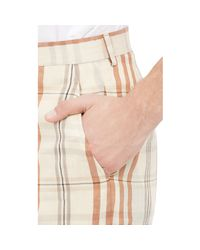 Duckie Brown | White Plaid Walking Shorts for Men | Lyst