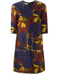 Marni - Multicolor Blossom Print Dress - Lyst