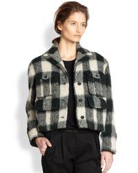 Rag & Bone - Green Louisiana Alpaca & Mohair Shrunken Plaid Jacket - Lyst