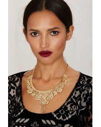 Nasty Gal - Metallic Rockefeller Collar Necklace - Lyst