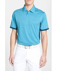 Nike | Blue 'Victory Block' Dri-Fit Golf Polo for Men | Lyst