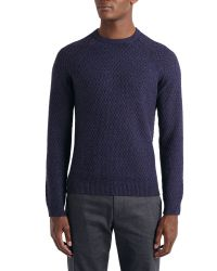 Ted Baker - Purple Morrelo Textured Raglan Sleeve Jumper for Men - Lyst
