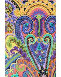 Etro - Blue Rose/Paisley-Print Pareo Coverup - Lyst