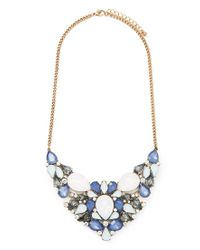 Forever 21 - Blue Faux Gem Iridescent Statement Necklace - Lyst