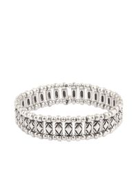 Philippe Audibert | Metallic Leon Stretch Bracelet | Lyst