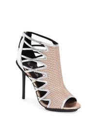 L.A.M.B. - Pink Parker Caged Leather Sandals - Lyst