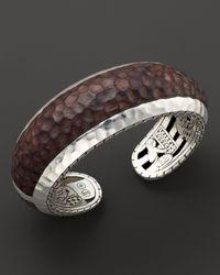 John Hardy - Brown Women's Palu Silver Cuff With Rose Wood - Lyst