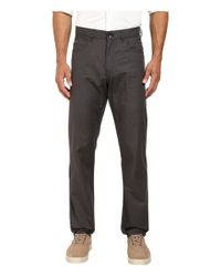 Calvin Klein | Gray Slub Twill Five-pocket Pants for Men | Lyst