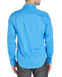 Original Penguin | Blue Woven Sport Shirt for Men | Lyst